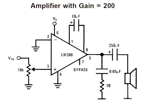 آمپلی فایر با آی سی 386 جهت تعمیر آیفون اکو (echo)